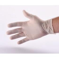 Gants latex blanc  x 100 -  Légèrement poudré