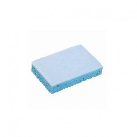 Tampon éponge sanitaire bleu x 10